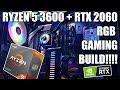 Ryzen 3600 + RTX 2060 Gaming Build Guide - FT Deepcool Matrexx 70 3F + Captain Pro Cooler