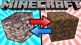 If Bedrock and Dirt Switched Places - Minecraft