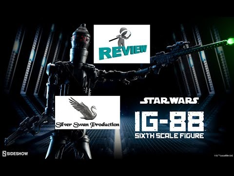 IG 88 Bounty hunter sixth scale sideshow figure review