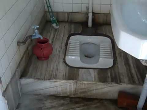 Traditional toilet hole in the floor in new delhi india for Indian toilet design