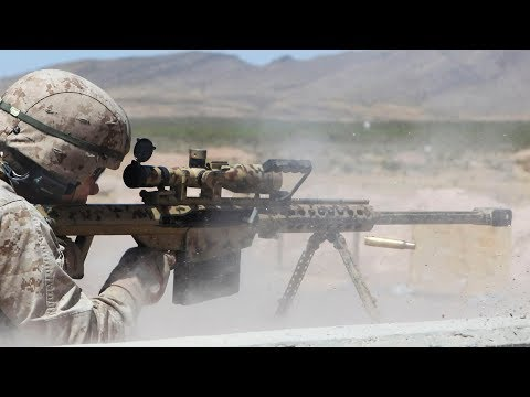 Snipers Shoot the Ultra Powerful M107 Barrett .50 Caliber Rifles