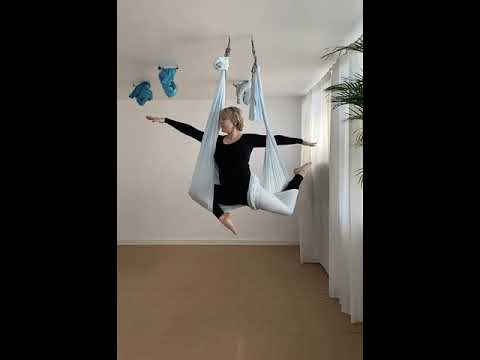aerial yoga  pigeon pose  barrettyogadk  youtube
