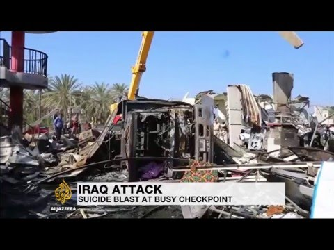 Suicide blast rocks busy checkpoint in Iraq