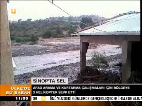 SİNOP'TA SEL, SAMSUN'DA FIRTINA!