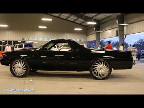 """WhipAddict: """"El Negro"""" El Camino tuckin 26"""" Amani Forged Vorandos, Corvette Interior, Car Audio"""