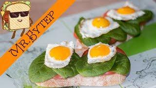 Бутерброды РОМАШКИ с яйцами на завтрак