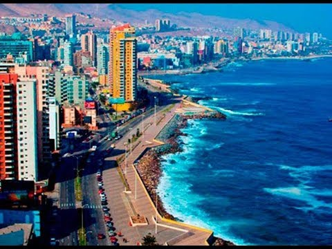 Antofagasta in Chile, port ,  urban area,  Atacama Desert, l