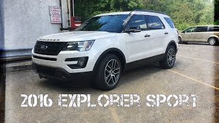 2016 Ford Explorer Sport Review 3.5L EcoBoost Twin Turbo - Test Drive and In Depth Look
