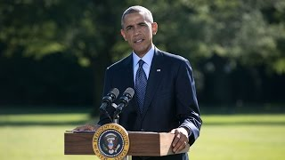 President Obama Delivers a Statement on Airstrikes in Syria