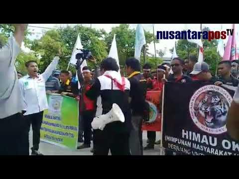 Ormas dan Mahasiswa OKU Demo ke PT Semen Baturaja (PTSB)