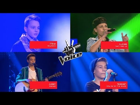 THE VOICE KIDS GERMANY: BEST AUDITIONS! (Lukas Rieger, Mike Singer, Julian, Stepan)