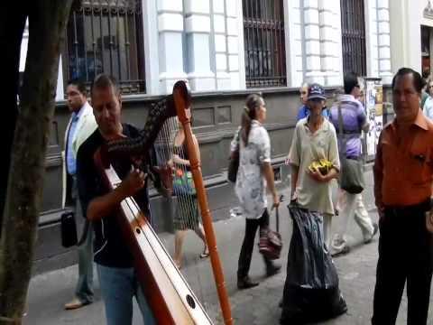 Harp playing charity in San Jose, Costa Rica
