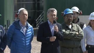El presidente Mauricio Macri inaugura instalaciones de la Central Bioeléctrica Río Cuarto