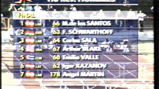 Emilio Valle se impone en los 110mv con Carlos Sala, Blake, De los Santos