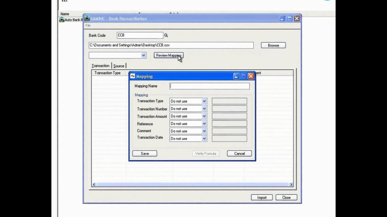 Auto Bank Reconciliation In Sage 300 ERP   YouTube  Bank Reconcilation Format