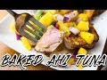 #3 HOW TO COOK IF YOU DON'T KNOW HOW TO COOK: BAKED AHI TUNA WITH VEGGIES!