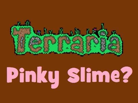 Terraria - Rare Pinky Slime!