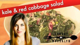 How To Make Kale & Cabbage Salad: Hungry In Brooklyn