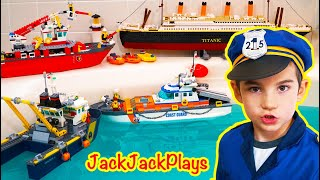 Do Our Lego Boats All Float? A Cops & Robbers Costume Pretend Play Skit