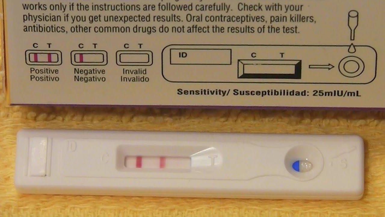 how to know pregnancy test is positive