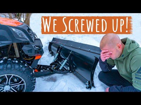 UTV Snow Plowing | Don't Make This Mistake!