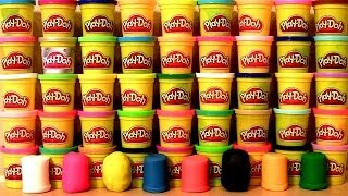 50 Play Doh Surprise Eggs! Marvel Angry Birds Spiderman Avengers Monsters CARS Mickey SpongeBob