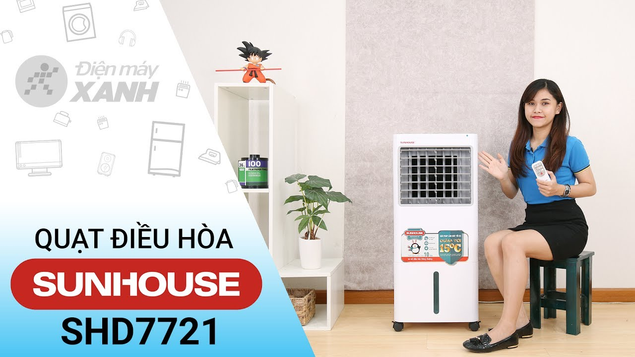 Quạt điều hòa Sunhouse SHD7721 – Quạt điều hòa có cổng USB | Điện máy XANH