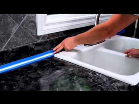 how to seal around a kitchen backsplash