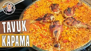 Tavuk kapama(büryan) tarifi-Bulgurlu ve sebzeli pilav-Hatice Mazi