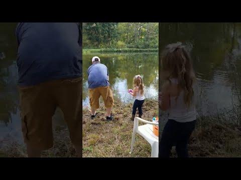 Woody's World - WATCH: Little Girl Reels in Monster Bass