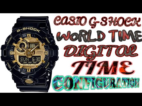 Casio G Shock Analog Digital Watch G339 G740 Time Configuration