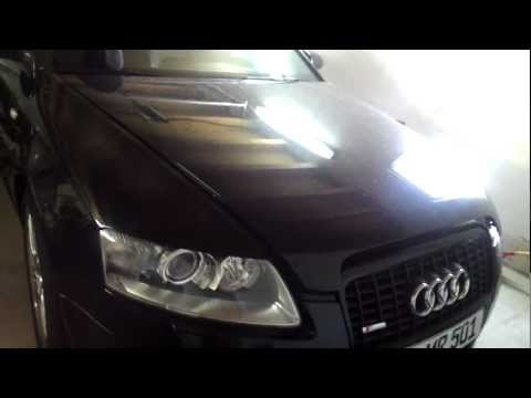 how to replace headlight bulb on audi a6 c6 4f dipp. Black Bedroom Furniture Sets. Home Design Ideas