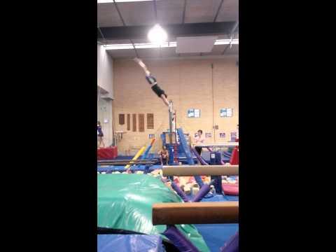 60 year old gymnast doing Giants