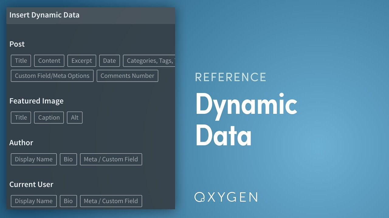 Visually Insert Dynamic Data From WordPress Into Your Oxygen ...