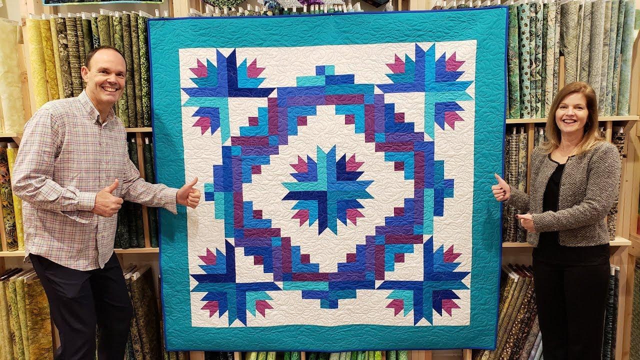 Cactus Wreath Cozy Quilt Designs Pattern Jordan Fabrics