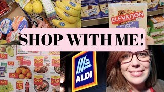 ALDI SHOP WITH ME 2019 // HEALTHY GROCERIES ON A BUDGET   GLENDA