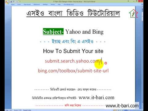 44  On Page Optimization  How to Submit Your Site on Yahoo and Bing  IT Bari SEO Bangla Video T