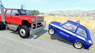 Crazy Police Chases #63 - BeamNG Drive Crashes