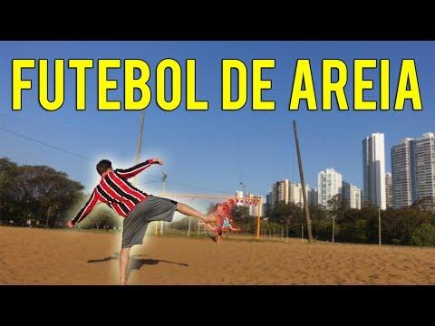 CHUTES NO FUTEBOL DE AREIA (MORRINHO ARTILHEIRO!!) - DESAFIOS DE FUTEBOL