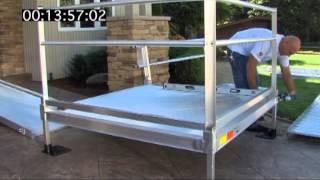 Installing a PATHWAY modular ramp system