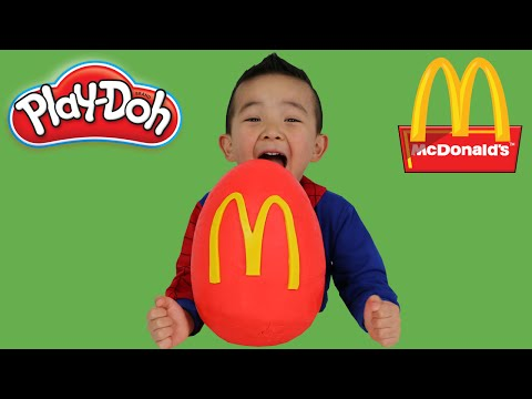 Thumbnail: McDonalds Play-Doh Surprise Egg Happy Meal Toys Angry birds Pokemon Snoopy Ninja Turtles Minions