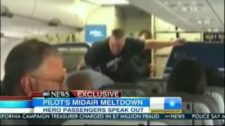 Passengers take down Jet Blue Pilot during Meltdown 03_27_12