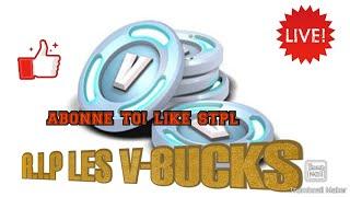 FORTNITE LIVE AVEC DES AMIS PS4 J AI PERDU DE V-BUCKS