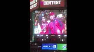 DA BULLS Dance Off at a Chicago Bulls game!