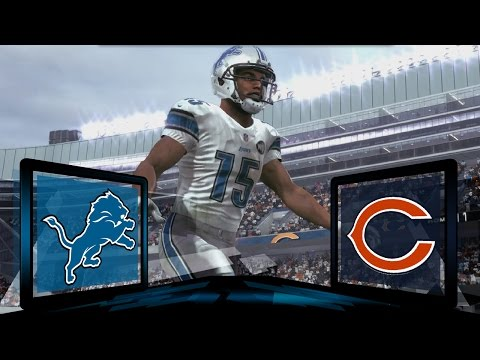 Madden NFL 17 Detroit Lions Franchise- Year 2 Game 7 at Chicago Bears