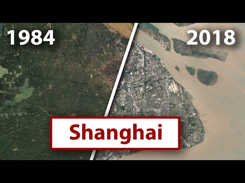 40 Years of Urbanization Captured by Google Earth