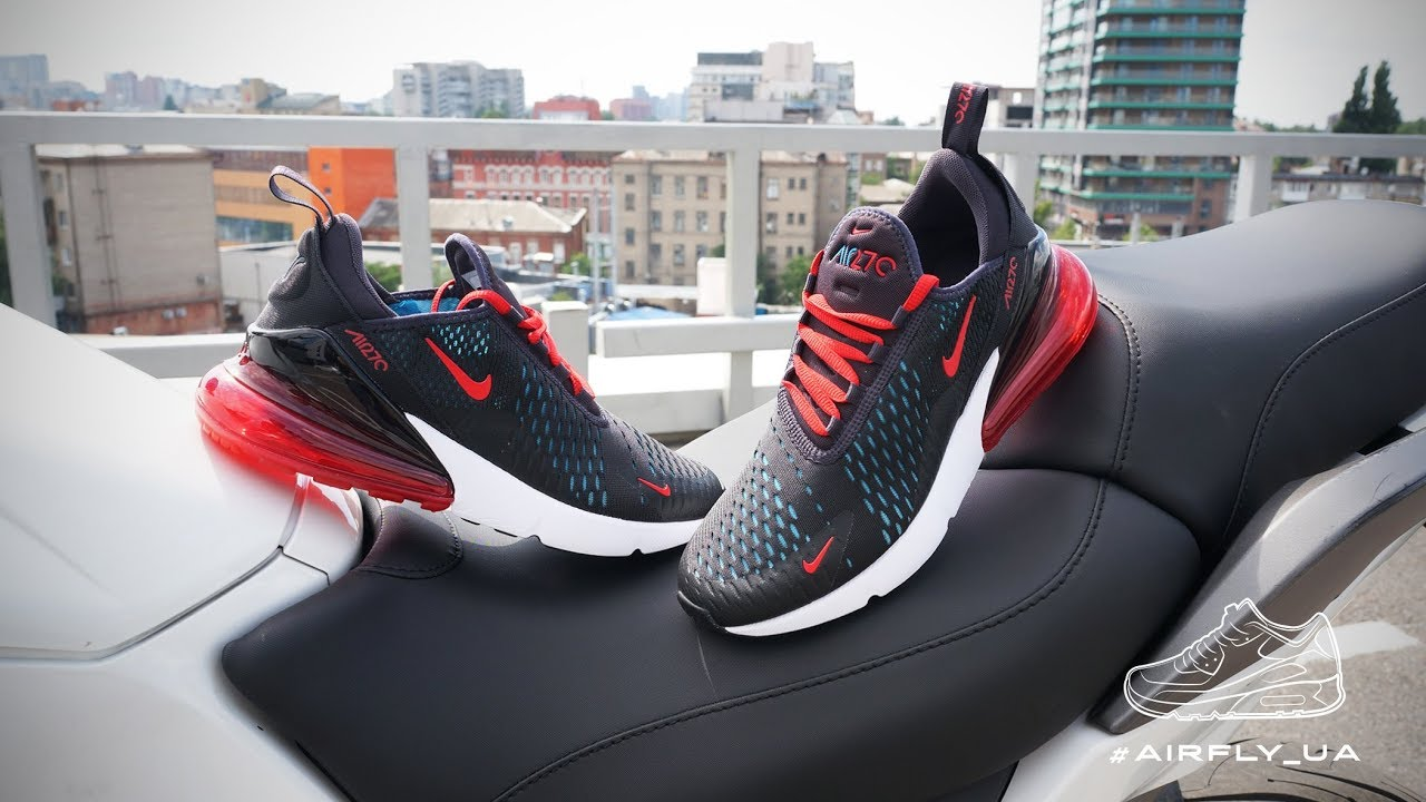 purchase cheap 41322 33a03 Nike Air Max 270 OIL GREY SPEED RED-NEO TURQ-BLACK