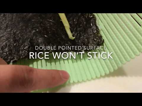 Non Stick Japanese Sushi Mat Works No More Bamboo Wrapped In Plastic Film Youtube
