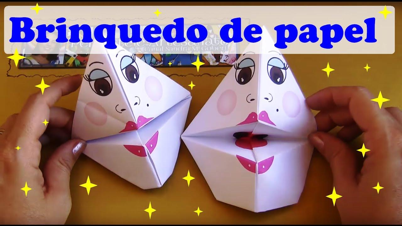 Como Fazer Brinquedo De Papel Fantoche De Origami 1 Youtube