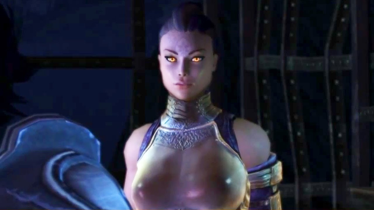 Lucas Frees Busty Archon Anjali Held Captive In Cage In Stormsong Cavern Dungeon Siege
